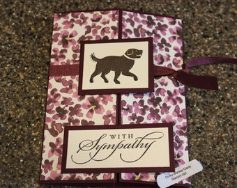 Stampin Up Homemade Greeting Card Dog With Sympathy Card 7136