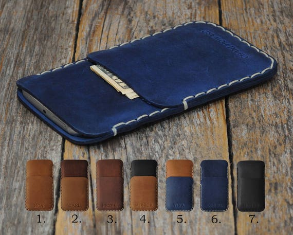 CAT S41 S31 S60 PERSONALIZED ENGRAVED Case Pouch Handmade Cover Genuine Leather Shell Wallet Sleeve Rough Vintage Style Custom Sizes
