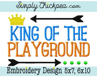 Embroidery Design - King of the Playground - Back to School - Arrows - For 5x7 and 6x10 Hoops
