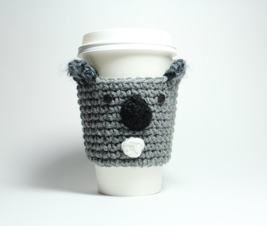 Koala acogedor café bebida de manga chaqueta de Java