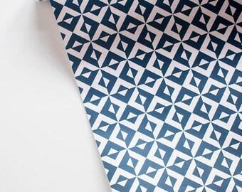 """NINA blush and navy tile print  20"""" x 29"""" gift wrap sheets 2 pk"""