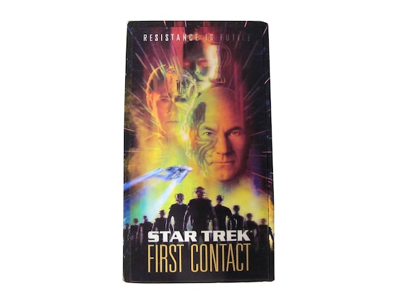 Star Trek First Contact VHS w/ Hologram Cover