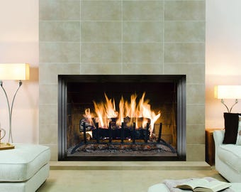 Fireplace Wall Sticker, Wall Mural, Wall Covering, Wall Decal, Wall Art, Peel and Stick, Self Adhesive, Fire 8