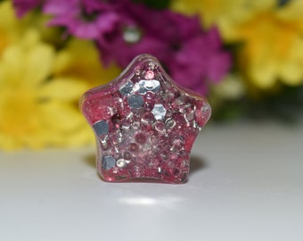 Orgone Energy Pink Star Mini 1 pc -Quartz Crystal, Pyrite, Blue Kyanite