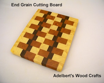 Wood Craft End Grain Cutting Board. Shipped by priority mail 2 to 3 days delivery.