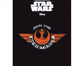 Official Disney Star Wars 'Join The Resistance' Logo Crest Iron On Embroidered Lucas-film Patch (Alternate)