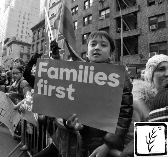 """""""Families First,"""" New York City Women's March, 2017."""