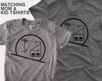 Sunrise / Sunset Chairlift - Matching Shirts (Women & Kid)