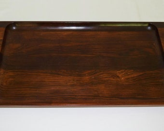 Rare Large Vintage 1960's Brazilian Modernist Brasilia Rosewood Tray Dansk Era MCM JHQ IHQ  Mid Century Decor