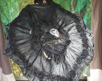 Vintage leather Parasol umbrella steampunk
