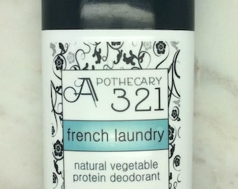 French Laundry Natural Deodorant, Aluminum Free, Paraben Free Vegan Deodorant French Lavender Deodorant, Clean Linen Scent