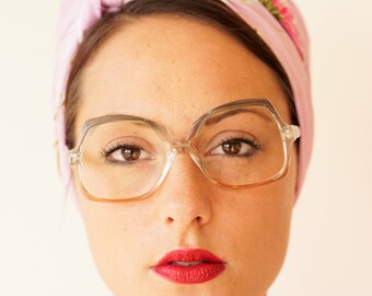 Vintage Eyeglass 1970s Retro Frames By Great Shape Made In Italy Multicolor Glasses New Old Stock 52-18