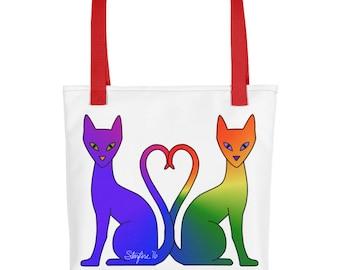 Double Rainbow Autisticat Tote bag