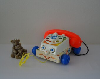 telephone 1961 vintage Fisher Price phone.