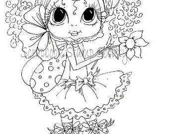 INSTANT DOWNLOAD Digital Digi Stamps Big Eye Big Head Dolls Digi  Pheebee Flutterbee By Sherri Baldy