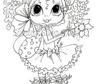 DESCARGA instantánea Digital Digi sellos ojo grande cabezona muñecas Digi Pheebee Flutterbee por Sherri Baldy