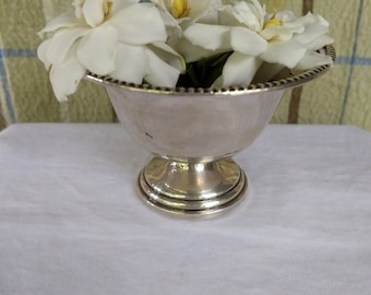 Vintage Crown Sterling Silver Footed Compote Bowl