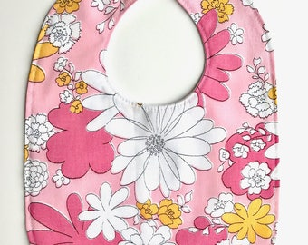 Baby Bib - Baby Girl Accessories - Vintage Baby - Floral Baby Bib - Vintage Fabric - New Baby Gift - Baby Shower Gift - Toddler Bib