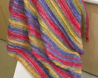 Devon - a lightweight baby blanket knitting kit