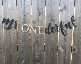 Mr. Onederful Banner — Mr. ONEderful Banner— ONEderful Banner — ONEderful - First birthday -