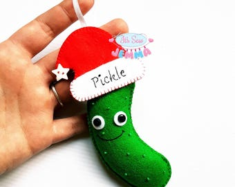 Christmas Pickle Decoration. Pickle Decoration. Decorative Pickle. Pickle Tree Decoration. Christmas Pickle. Pickle Rick Inspired.