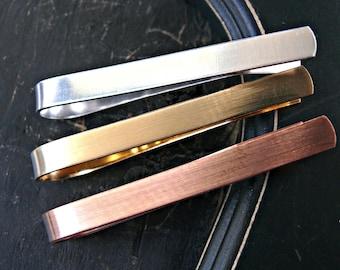Mixed Metals Mens Tie Bar - Mens Tie Bar - Mans Tie Clip - Groomsmen Tie Clips/Bars - Mens Metal Tie Bar - Mans Tie Clips