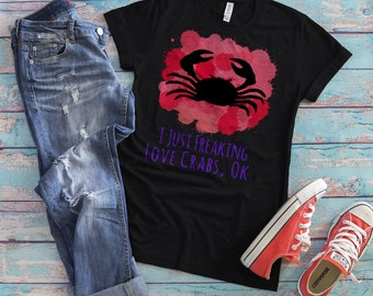 Crab Shirt, Crabbing Tee, Blue Crab, Hermit Crab Shirt, Crabs Shirt, Crab Art Shirt, Maryland Crab Shirt, Crab Art Print Gift, Spirit Animal