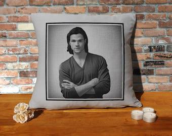Jared Padalecki Pillow Cushion - 16x16in - Grey