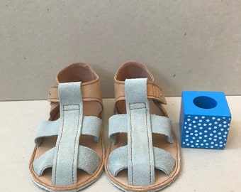 soft sole baby sandals, soft sole baby shoes, leather baby sandals, leather baby shoes, modern baby shoes, unisex baby sandals, blue sandals