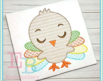 Sketch Boy Turkey Embroidery Design - This design is to be used on an embroidery machine. Instant Download
