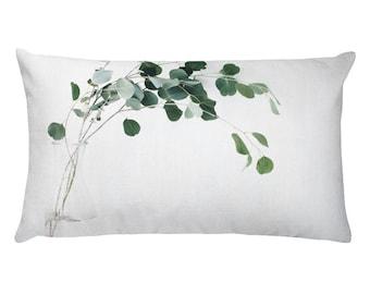 eucalyptus printed pillow