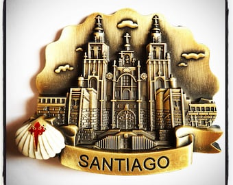 Camino de Santiago de Compostela Cathedral Souvenir Magnet