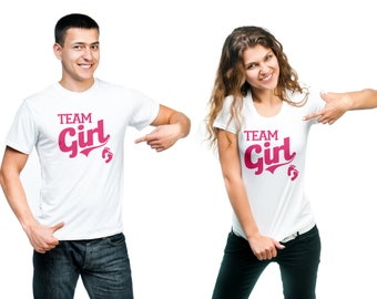 Team Girl Shirt - baby announcement, gender reveal, sex reveal, baby reveal, baby shower - ID: 2020