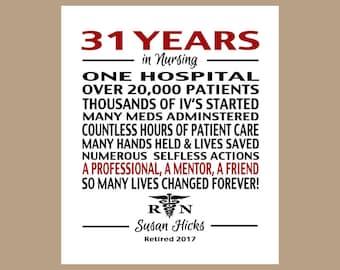 Nurse Retirement Gift, Nurse Retirement Print, Nurse Retirement Poster, RN Nurse Gift, Nurse Thank You Gift, Digital PDF Print