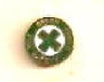 GREEN CROSS for Safety Pin Back - (New)