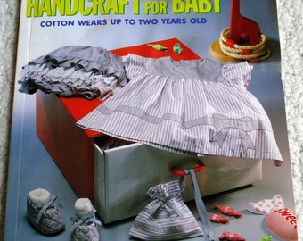 Handcraft For Baby - sewing cotton items for babies - Vintage Paperback book