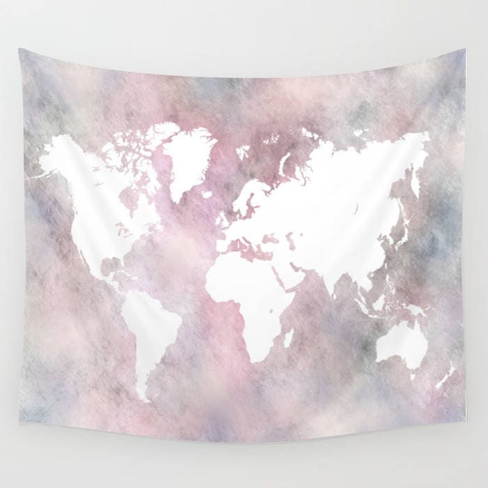Wall tapestry world map tapestry wall hanging design 66 zoom gumiabroncs Gallery
