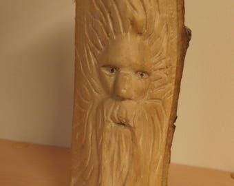 hand carved tree spirit