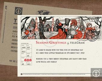 Christmas Telegram / Seasons Greetings / Holiday Greetings