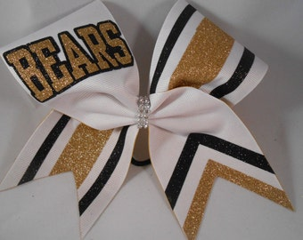 Cheer Bow Custom Just For Your School Team! Letters / Colors Team by BlingItOnCheerBowz
