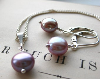 Simplicity Pearl Gift Set. Mauve