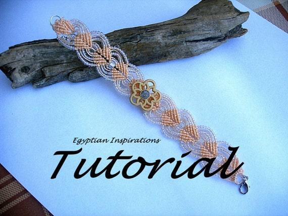 Micro Macrame Tutorial Pattern Beaded Bracelet Tutorial