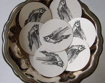 Owl Tags Round Gift Tags Set of 10