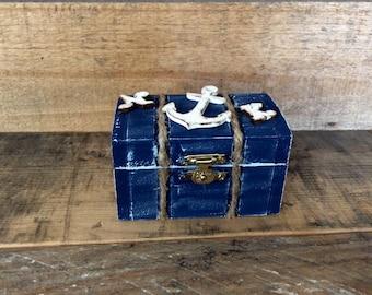 Wedding Ring Box. Nautical Wedding Ring Bearer Pillow Alternative. Nautical Wedding Ring Box. Keepsake Box.