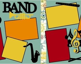 """Scrapbook 2 Page Layout """"Band"""""""