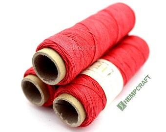 Thin Hemp Twine, Red Micro Macrame Cord, High Quality .5mm Hemp Craft Cord