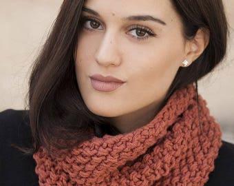 handmade knit cowl - neck warmer - scarf