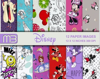 Disney  digital paper pack - printable papers - Instant download -We have a lot of Disney,s digital papers.Please look them.