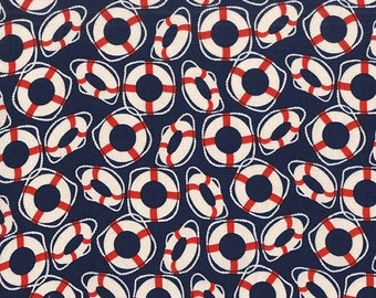 Michael Miller Fabric - Oh Buoy! - Navy - CX7166-NAVY-D - 100% cotton fabric - Fabric by the yard(s)