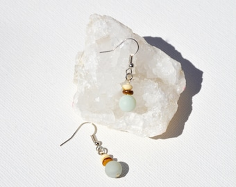 Pale Blue Amazonite gemstone earrings